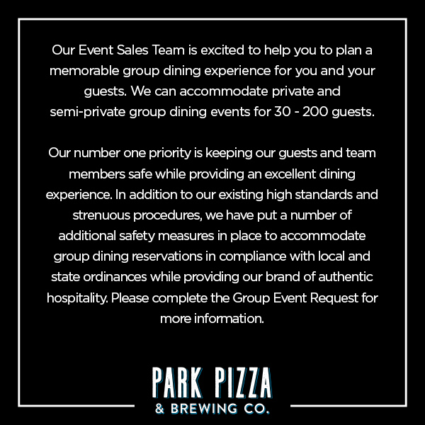 Park Pizza Group Dining